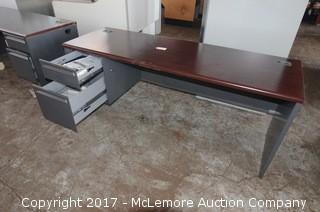 Hon Metal and Wood Desk