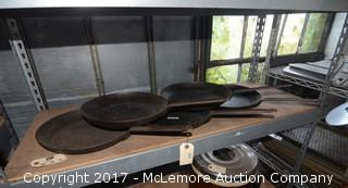 (5) Commercial Frying Pans
