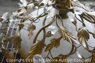 (2) Decorative Floral Flush-Mount Ceiling Fixtures