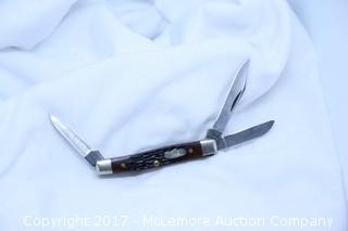 Case 6333 SS - Jigged Brown handle - Small Stockman