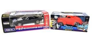 Nikko '67 Camaro Radio Control Car & Funline '41 Willys Coupe Die Cast Car