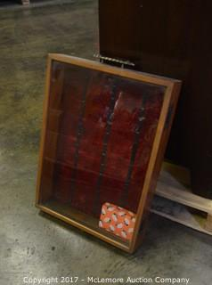 Solid Wood Glass Front Display Case