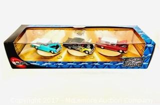 Hot Wheels Tri Five Chevy Set, Hot Wheels 40th Anniversary '57 Chevy Set, and Hot Wheels Collectibles 1:18 Scale '69 Camaro
