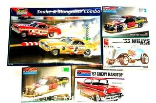 Assorted Car Models by Revell, Monogram and AMT ERTL