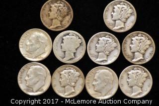 Ten Silver Dimes