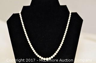 Graduated White Cultured Pearl Necklace