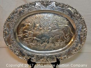 Oval Wildlife Tray by Arthur Court