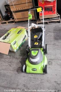 """Greenworks 20""""  12 amp  3 In 1 Electric Lawn Mower"""
