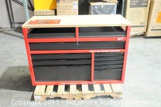 """Milwaukee 52""""Mobile Work Station With Power & USB Ports"""