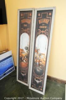 2 Large Art Pieces of French Countryside Style