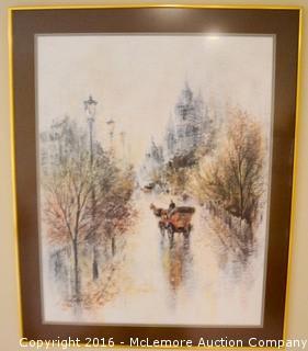 Print of a Snow Scene