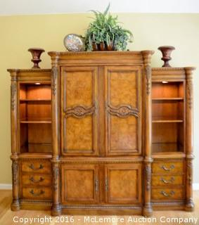 Break Front Entertainment Center    ALL CONTENTS INCLUDED