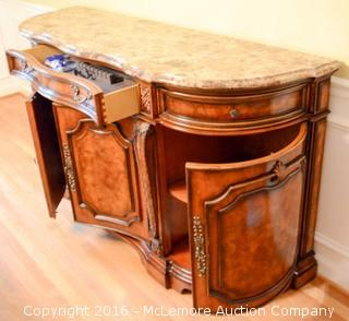 Wooden Buffet with Marble Top