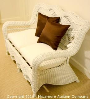 Wicker Love Seat,