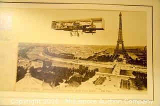 Pair Of Enlargements Of Postcards Souvenir Of Paris