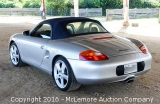 2001 Porsche Boxster Convertible with 2.7L H6 DOHC 24V engine