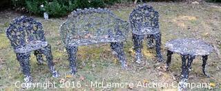 Four Piece Wrought Iron Lawn Furniture