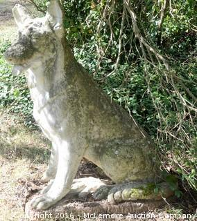 Concrete German Shepherd Dog Statue