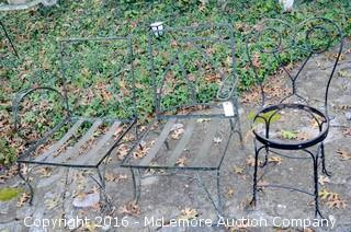 Three Chairs Made Of Wrought Iron