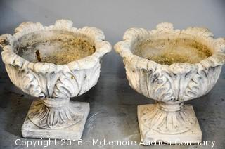Two Flower Urns