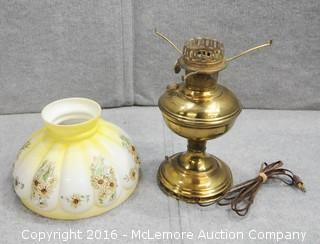 Vintage Victorian Style Lamp with Brass Base