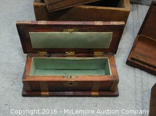 Assortment of Decorative Wooden Boxes