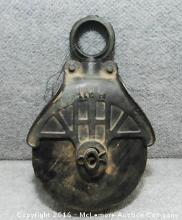 Vintage Metal Pulley Marked Myers O.K.