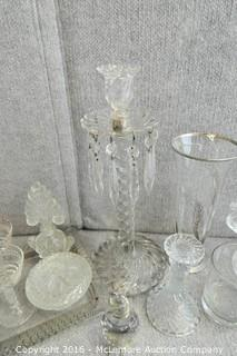 Assortment of Cut Glass Items