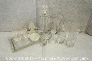 Assortment of Cut Glass Items