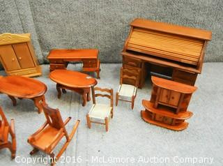 Assortment of Doll House Furniture and Serving Set