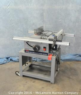 "Ryobi 10"" Precision Benchtop Cutting System on Stand with Ryobi Vacuum with Dust Table System"