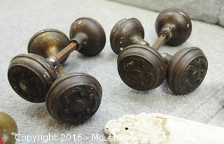 Assortment of Vintage Door Knobs and Plate Covers