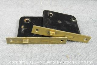 2 Yale Antique Door Latches