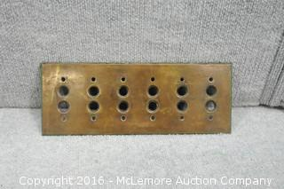 Antique Brass Elevator Button Plate
