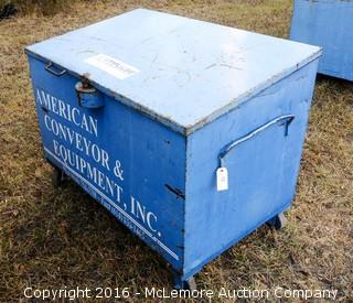 Metal Job Site Box with Casters