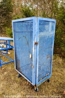 Metal Wire Equipment Cage on Casters