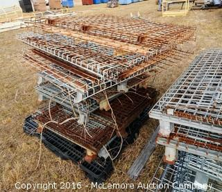 2 Stacks of Collapsible Wire Part Cages