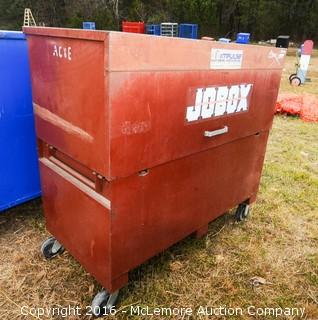 Metal Job Site Storage Box with Casters