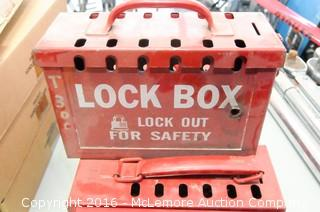 8 Red Lockout Boxes