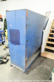 Wooden Tool Cabinet on Casters