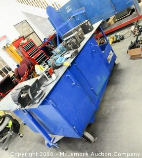Work Wagon with Vise, Gas Canister Storage and Cabinets Crash Cart
