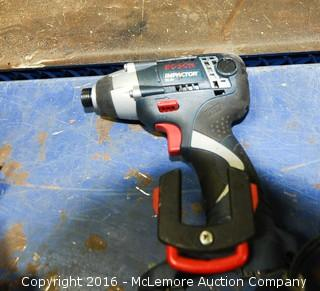2 Makita Chargers with Batteries and Bosch Cordless Driver