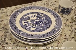 Oriental Themed Set of Dishware