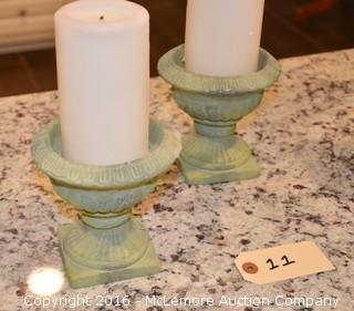 Set of 3 Candles with Holders
