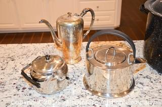 Large Pot and Assortment of Coffee / Tea Pots