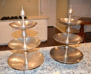 Set of 3 Tier Serving Dishes