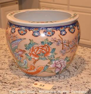 Floral Design Decorative Pot