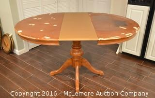 Solid Wood Table with Leaf