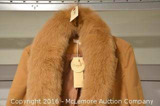 Women's Medium Coat with Fur Colar