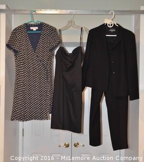 Woman's Suit & 2 Dresses